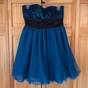 Speechless Teal Sequin Homecoming Prom Dress 7
